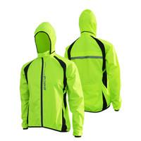 al por mayor moto chaqueta de la capa de lluvia de la bicicleta-Venda al por mayor la ropa de ciclo Windbreak de la bici de la capa de la lluvia de la capa de la lluvia de la prendas de vestir exteriores de la bici de Jersey MTB de la chaqueta