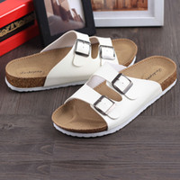 Wholesale Softwood men and women spring and summer fashion shoes Birkenstocks Leisure cork slippers men s slippers couple anti skid slippers tid