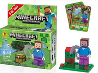 Wholesale Minecraft Mini Figures Kid Toys Building Block Sets Education Assembly Building Blocks Toys Minecraft Toys in Action Figure
