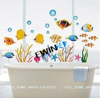 bathroom wall art and decor - Brand New and High Quality Fish Bathroom Decor Childrens Room Wall Stickers CM Large