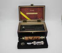 k fire ecig - K Fire E cigarettes kit Variable Voltage V V Spinner Battery E Fire Wooden Mod Ecig Kit with iclear30 Atomizer h003