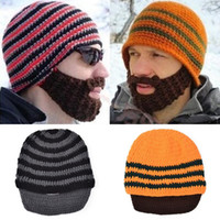 best beards - hot Beanie Skull Caps Bearded Wool Knitted Hats Beard Knitted Hat Warmer Ski Bike Skull Hat Unisex Men Beard Cap Christmas hat Best gifts