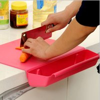 Wholesale Multifuction Creative Kitchen Cutting Board in With Organizer Trough Anti Bacterial Plastic Chopping Blocks