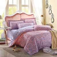 Wholesale 3D Floral Bedding Queen Duvet Sets Cotton Bedding Set Designer Bedding Pink Purple Floral Pillow Case Single Double Queen King Size