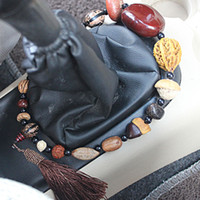 beaded seat cushion - cars guido Eighteen Pu Tizi Stall bead Car Pendant Interior supplies Peace beads beaded car seat cushion