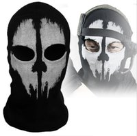 Wholesale Ideal Balaclava Ghost Skull Bike Motorcycle Helmet Hood Ski Sport Neck Face Mask Brand New Good quality