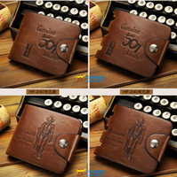 Wholesale Brand new Mens High Quality Leather Wallet Pockets Card Clutch Cente Bifold Purse Coin Holder For Men