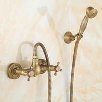 bathtub shower kit - Euro design antique bronze smart shower kit bathroom bathtub faucet shower hand shower head