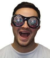Wholesale Novelty Hypnotic Xray Spiral Swirl Glasses Goggles Fancy Dress Party Accessory