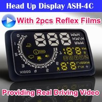 Wholesale ActiSafety Universal Car HUD ASH C Head Up Display Support Both MPH and KPH More Display Detail OBD2 Colors