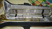 Wholesale High Quality Gold Trombone F Bb tone Advanced withcase