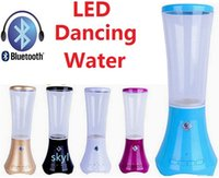 Cheap 2015 water dance LED speaker F07 K90 wireless bluetooth speaker 5colors support TF card handfree MP3 music player speaker for phone Free DHL