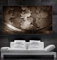 big poster prints - Game of thrones Westeros map poster print art huge big picture wall parts NO232