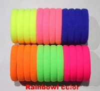 artificial elastics - TS Candy Colored Hair Holders High Quality Rubber Bands Hair Elastics Accessories Girl Women Tie Gum Mix Colors A5
