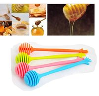 Wholesale New Honey Stirring Bar Stick Rod Puddler Mixer Honey Dipper Stick Home Kitchen Assistant Home Use coffee tea juice tools