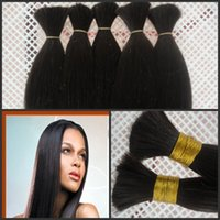 virgin hair bulk - Virgin hair bulk human bulk hair bundles per free ship by DHL silky straight natural straight good quality human hair