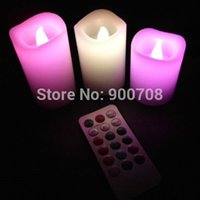 Wholesale sets New set Wax Battery Operated Remote Control Color changing Led Candle Light Set