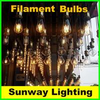 Wholesale Dimmable E12 E14 E27 Edison LED Filament Bulbs chandelier W W LED Candle light bulbs LED Candelabra bulbs lighting v v
