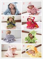 Wholesale Hooded Animal Modeling Baby Bathrobe Cartoon Baby Towel Character Kids Bath Robe infant Bath Towels BP16 order lt no track
