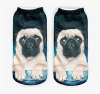 Wholesale Kawaii Galaxy Pug D Printing Socks Women Girls Children Cotton Sock Animals Character Ankle Sock High Quality DCBF45