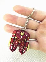 Wholesale The Avengers Keychains Super Heroes Iron Man PVC Toys Pendants Key Chain Pend Gift figures action kids gift doll DHL