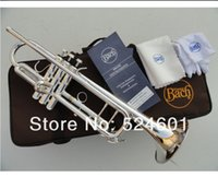 bach music - Bach Bb Trumpet LT180S Small Instruments Music Trompete Surface Silvering Brass Bb Trompeta with Mouthpiece