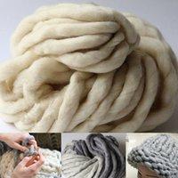 knitting yarn - Super Thick Yarns Scarf blanket knit Yarn High Grade Thick hat Yarn For Hand Knitting Wool Blend yarn crochet Yarn g