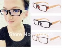 bamboo reading glasses - Fashion Square Style read glasses Bamboo Eye Glasses Lady Spectacles