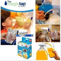 Wholesale White Magic Tap Electric Automatic Water Drink Beverage Dispenser Spill Proof