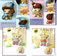 baby mobile kits - HOT Needlework DIY Cross stitch Set For Embroidery kit Bear Sleepy Baby Cartoon two side Cross stitch Mobile chain Accessories