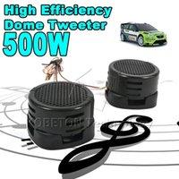 Wholesale 2015 pair Universal High Pitch Loudspeaker HF X W SUPER POWER DOME LOUD SPEAKER TWEETER Klaxon Tone Loudspeaker For Car