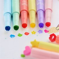 Wholesale Colorful Student Syringe Writing Watercolor Marker Highlighter Pen Office School Supplies Stationery