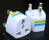 Wholesale UK Travel Adapter Universal to United Kingdom Foreign Socket Converter World Power Plug pin Convertor Plugin Port Outlet Home Wall British