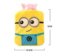 Wholesale Mini Cartoon Plush Hot Water Bottle Hand Warmer Winter PVC Bouillotte Water Filling Hot Water Bag Removable Washable