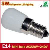 Wholesale New Product E14 W Refrigerator LED lighting mini bulb AC220V V Bright indoor lamp for Fridge Freezer