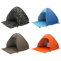 Wholesale 2 Persons fishing tent Outdoor camping hiking beach summer tent UV protection fully sun shade quick open pop up beach awning