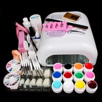 nail kit uv - New Pro W UV GEL White Lamp Color UV Gel Nail Art Tools Sets Kits