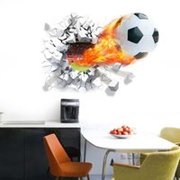 background paper designs - 3D Football Wall Stickers Background Decor Removable Stickers Bedroom Sticker in stock high quality
