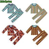 Wholesale New arrival Autumn Children thicken pajamas boys girls kids suits Y kids clothes set B LZ T0147