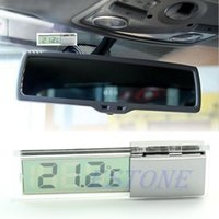 Wholesale Suction Cup Digital Thermometer Mount On Car Windshield Or Rear View Mirror