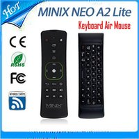 Wholesale Original MINIX NEO A2 Lite GHz Wireless Keyboard Gaming Air Mouse Six axis Gyroscope Accelerometer for Android TV Box PC Game Black