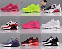 Wholesale Kids Sneakers Sport Running Shoes Girls Boys Colorful Split Leather Shoes New Styles