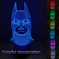batman lamps - 3D LED Light Cubes Novelty Lights Batman Night Lights Colorful Touch Switch Table Lamp Night Light Led Color Changing Light Night Light