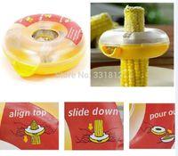 Wholesale 10pcs New Kitchen Tool Peeler Doughnut Shaped Washable One Step Corn Stripper Thresher Peeler