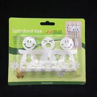Wholesale Hot sales Bathroom Kitchen Family three Toothbrush Towel Holder Wall Sucker Hook holder new