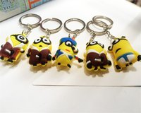 Cheap The Latest Key Chain Despicable Me 3 Minions Doll Key Chain Boys and Girls Can Be Used The Gift to Relatives and Friends