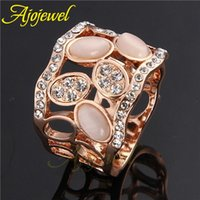 Cheap Size 7-9 Aliancas De Casamento Em Ouro New 2014 Wedding Gift Crystal With Opal Ring