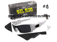 Wholesale NEW IN BOX IN Original box OIL RIG white w grey lens black logo Men s Sports Sunglasses