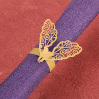 Wholesale 2015 Hot Sale Dinner Napkins Rings Gold Peafowl Wedding Decoration Napkins Rings Paper Wedding Accessories