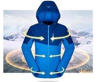 Wholesale New Men And Women Fleece Softshell Jacket Outdoor Polartec Thermal Sport Polar Hooded Coat Outerwear Clothes Spring Autumn Winter